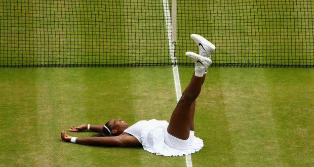 Serena Style: Serena Williams celebrates victory following The Ladies Singles Final against Angelique Kerber of Germany on day twelve of Wimbledon 2016 (Photo by Julian Finney/Getty Images)