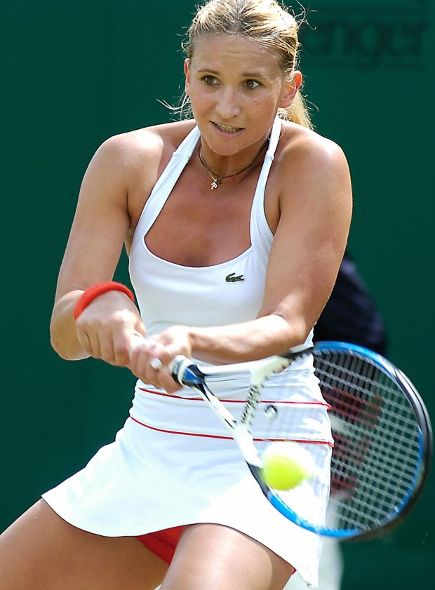 Tatiana Golovin of France at Wimbledon 2007: 'I'm confident in my red knickers'
