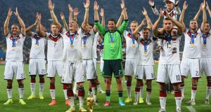 Germany celebrate winning the World Cup in 2014.