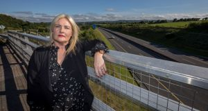 Irish Road Haulage Association president Verona Murphy: says her members had experienced premium hikes of up to 100 per cent in the space of a year, leaving the average cost of covering a truck at €5,000, compared with €3,000 in the UK and €2,000 in Poland.  Photograph: Dylan Vaughan.