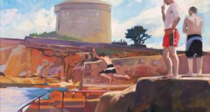The Forty Foot, Sandycove, Co Dublin 2006 by Oisín Roche (€800-€1,200); in Whyte's Summer Art Auction on Monday, July 17th
