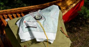Create a custom print silk map with Burnt Point Lodge's website