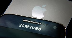 Partial eclipse of the Apple: Samsung's profits set to beat its American rival's. Photograph: Peter Macdiarmid/Getty
