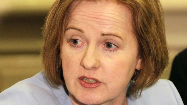Ruth Coppinger at a Solidarity press conference. Photograph: Stephen Collins/ Collins Photos