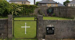 The site where 'significant' quantities of human remains were found buried under the site of a former institution for unmarried mothers run by the Sisters of the Bon Secours. Photograph: Niall Carson/PA Wire