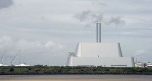 The incinerator at Poolbeg, Ringsend, where a lime leak resulted in  11 people being hospitalised in June. File photograph: Brenda Fitzsimons/The Irish Times