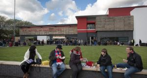 The outside of Broadhurts Park, the home of FC United. Photograph: Colin McPherson/Getty
