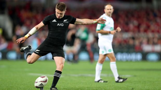 Beauden Barrett's misses off the tee cost New Zealand the series. Photo: Peter Meecham/Inpho