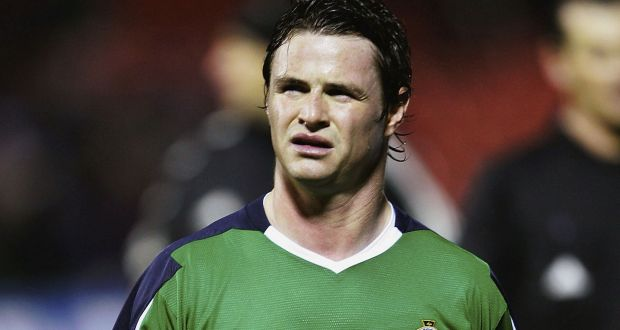 Philip Mulryne of Northern Ireland leaving the pitch after a 1-0 loss to Canada in the International Challenge match on February 9, 2005 in Belfast, Northern Ireland. Photograph: Bryn Lennon/Getty Images