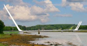 An artist's impression of the proposed Narrow Water bridge at Carlingford Lough.