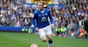 A file photograph of Wayne Rooney from August 2015  during a pre-season match at Goodison Park. Photograph: Peter Byrne/PA Wire