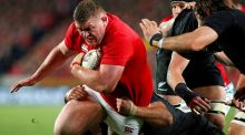 British and Irish Lions forward Tadhg Furlong in action during the final Test which ended in a 15-15 draw at Eden Park in Auckland. Photograph: Nigel Marple/Reuters