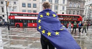 "The British government proposes that, the day after Brexit, Europeans obtain the status of ""third country nationals"". Photograph: Justin Tallis/AFP/Getty Images"