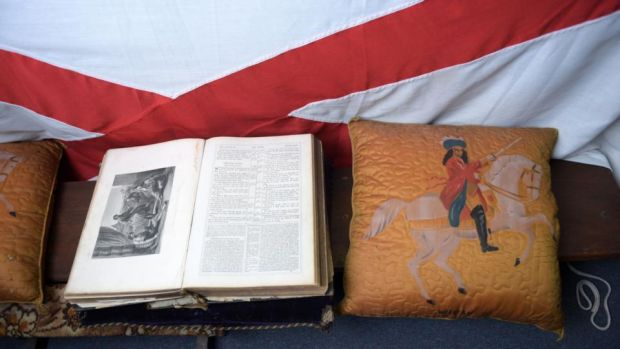 Dublin & Wicklow Orange Lodge: a Bible at its Northumberland Road hall. Photograph: Bryan Meade