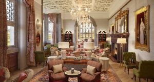 The drawingroom at Adare Manor