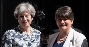 Judicial review: Ciaran McClean claims that Theresa May's deal with Arlene Foster contravenes the Belfast Agreement and UK anti-bribery law. Photograph: Carl Court/Getty