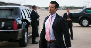 Donald Trump jnr:  It is unclear whether the Russian lawyer he met in June 2016, Natalia Veselnitskaya, produced any  compromising information about Hillary Clinton. Photograph: Al Drago/The New York Times