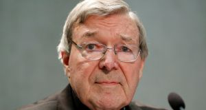 Cardinal George Pell said in a  in a statement he 'consulted his doctors and on their advice took several days to return home'. File photograph: Remo Casilli/Reuters