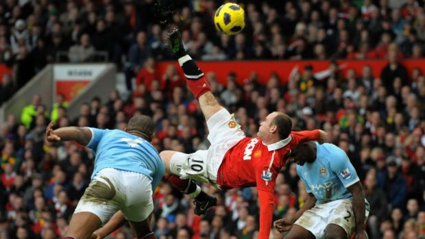 Rooney's overhead kick against Manchester City will be long remembered. Photo: Andrew Yates/Getty Images