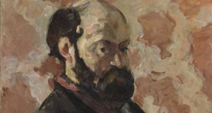 Paul Cézanne: 'Self-portrait in front of pink background', 1875 (detail)