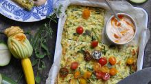 The hens are destroying the grass but the bonus is lovely eggs for this spicy Frittata