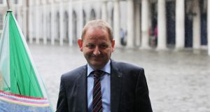 Garda  Sergeant Maurice McCabe arrives at the Disclosures Tribunal in Dublin Castle, Dublin on Tuesday. Photograph: Colins