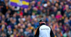 Brian Cody: He was like a bear on the sideline, striding up and down it looking for war. And he didn't care who gave it to him . . . he was in lawless form. Photograph: James Crombie/Inpho