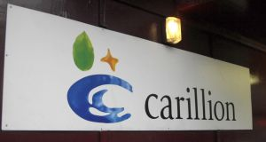 In a half-year trading update, the construction and infrastructure giant Carillion downgraded its full-year revenue guidance, with sales now expected to be between £4.8 billion and £5 billion. Photograph: PA Wire