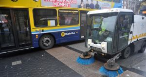 Unions representing Dublin City Council workers have criticised the use of Dublin Town  to provide additional street-cleaning services for the city. Photograph: Dara Mac Dónaill/The Irish Times