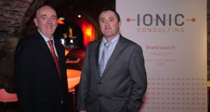 Ken Boyne and Brendan Heneghan of Ionic Consulting in Dublin. The company rebranded following a management buyout