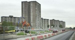 The old towers of Ballymun: over the past two decades 36 blocks of 2,820 flats built in the 1960s, including seven 15-storey towers, have been demolished in area. Photograph: Alan Betson