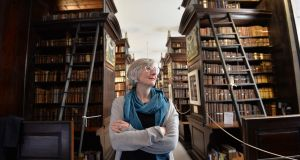 Amanda Bell at the Marsh's Library, St Patrick's Close, Wood Quay. Photograph: Alan Betson