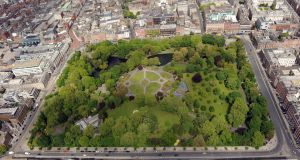 St Stephen's Green from above. Photograph: ststephensgreenpark.ie