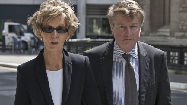 Brian and Mary O'Donnell in London for a bankruptcy hearing in 2012
