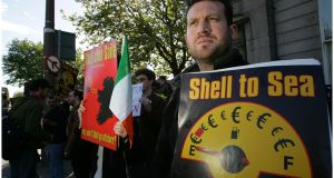 Protests and opposition delayed production at the Corrib gas field by more than a decade. Photograph: Bryan O'Brien