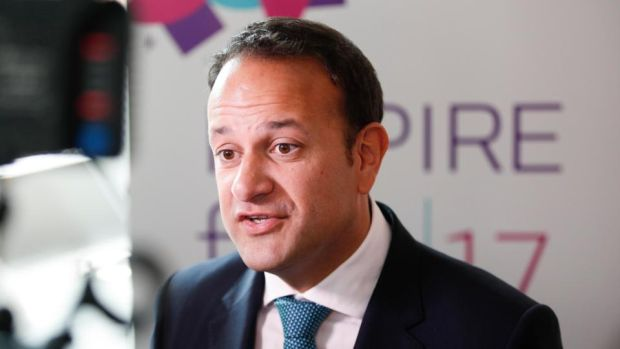 "Taoiseach Leo Varadkar: ""The protest was ugly. It was violent. It was nasty."" Photograph: Conor McCabe Photography"
