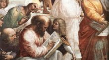Pythagoras: the mathematician in The School of Athens, by Raphael, from 1509. Photograph: Creative Commons/Wikimedia