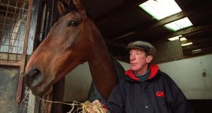 Tommy Carberry with Bobbyjo. From his small stables near Ratoath, Co Meath, Carberry produced Bobbyjo to win the Aintree Grand National in 1999. Photograph: INPHO/Lorraine O'Sullivan