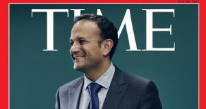 Taoiseach Leo Varadkar has made the cover of the Europe edition of the New York-based magazine, under the headline 'An island at the centre of the world'.