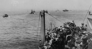 Ships carrying members of the BEF leaving Dunkirk during the evacuation of British troops. Photograph:  Keystone/Getty Images