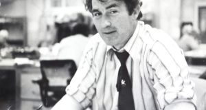 Paul Muldowney working on the news desk of the Irish Press in June 1979