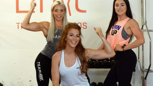 It wasn't until the 1970s that women's bodybuilding began. Jenni Muphy (left), Siobhan O'Hagan (centre) and Jade Wilson (right) Photograph: Cyril Byrne/The Irish Times