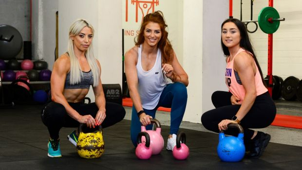 Jenni Murphy (left) Siobhan O Hagan (centre) and Jade Wilson (right).Photograph: Cyril Byrne/The Irish Times