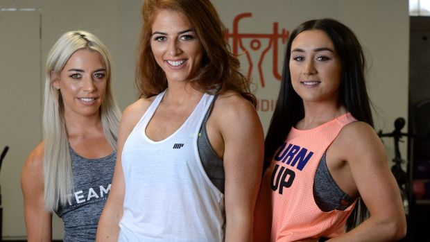 Jenni Murphy (left),Siobhan O Hagan (centre) and Jade Wilson (right).Photograph: Cyril Byrne/The Irish Times