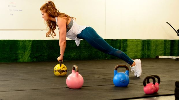Siobhan O Hagan working out .Photograph: Cyril Byrne/The Irish Times