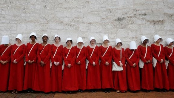 The Handmaid's Tale? `We are not slinking into dystopia. Rather, we are still engaged in the long crawl out it'
