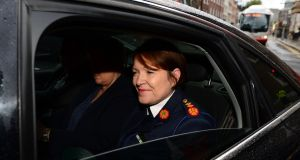 "Garda Commissioner Nóirín O'Sullivan: ""I never received any preparatory training and I'm not sure where that reporting came from."" Photograph: Dara Mac Dónaill"