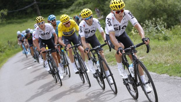 Team Sky worked really well together during stage eight. Photo: Getty Images
