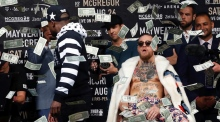 Floyd Mayweather and Conor McGregor media circus hits New York