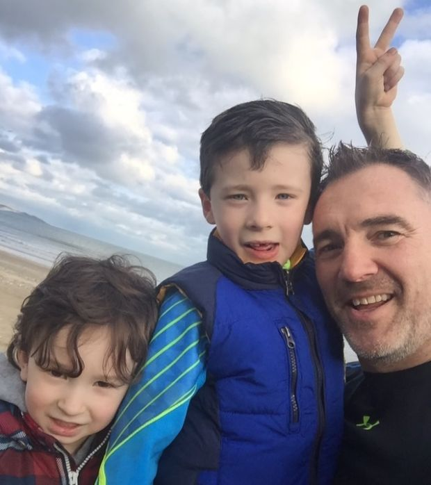 Philip Loughran with his sons: 'I have more of an appreciation for Ireland. It is a beautiful country that people travel from all over the world to visit.'